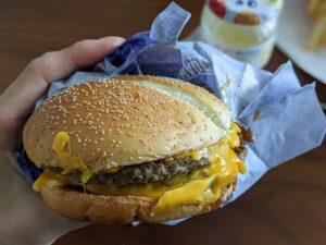 マクドナルド,マック,炙り醤油風ダブル肉厚ビーフ,リンゴジャム,おうちでSio,ハンバーガー,カスタム,しょっぱい,ハンバーガーラボ,Hamburger-lab,